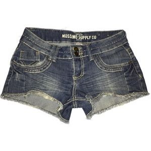 Size 5 embroidered Mossimo jean shorts